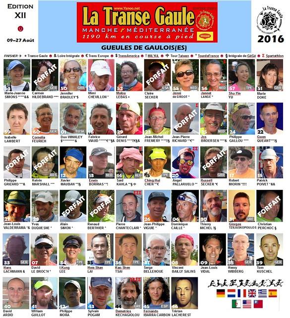 Οι συμμετέχοντες στο La Transe Gaule 2016!