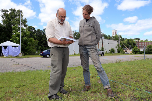 Amanda Barker with NRCS District Conservationist Dan Lenthall