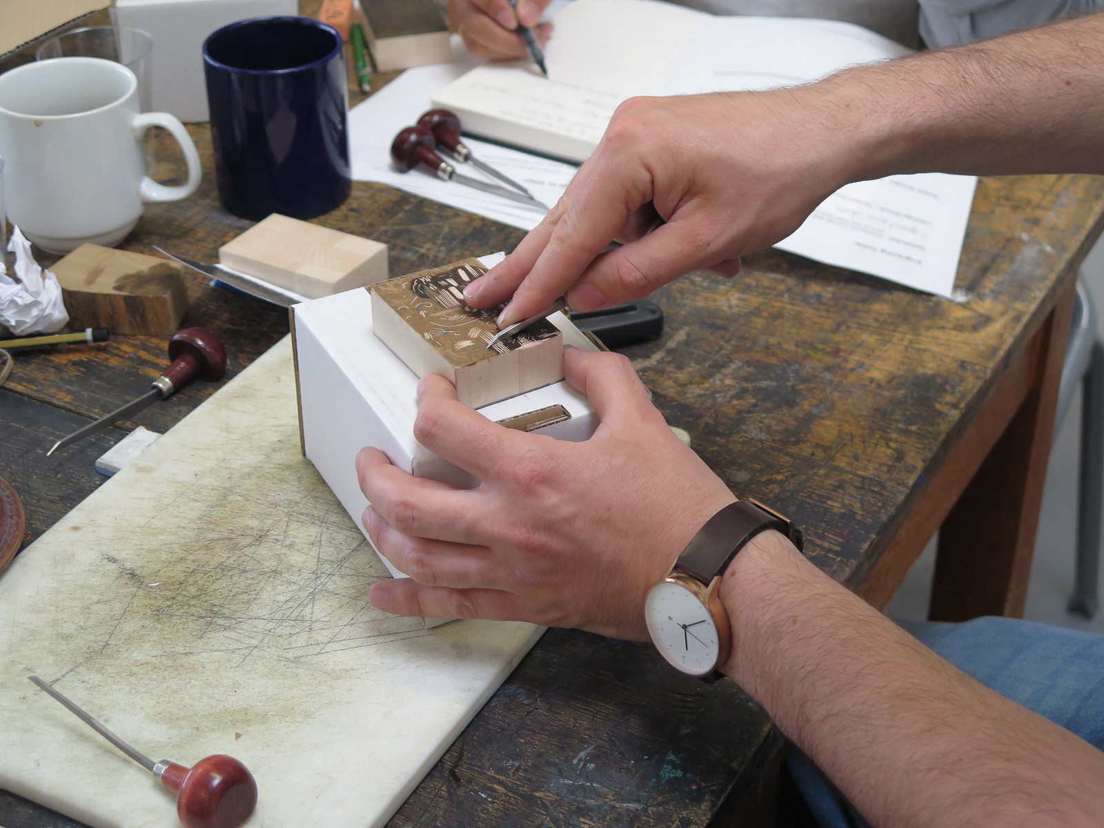 Ben Goodman - Wood engraving demonstration