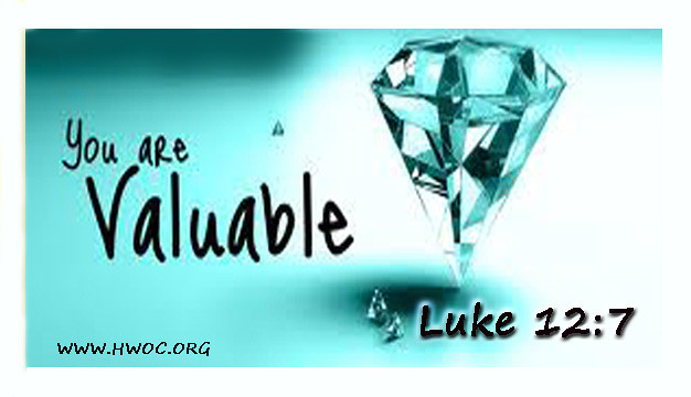 HWOC- You Are Valuable- Luke 12 7 | Harvest World Outreach ...