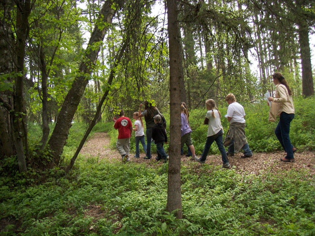 Local Schools Use The Nature Trail At Creston National Fis