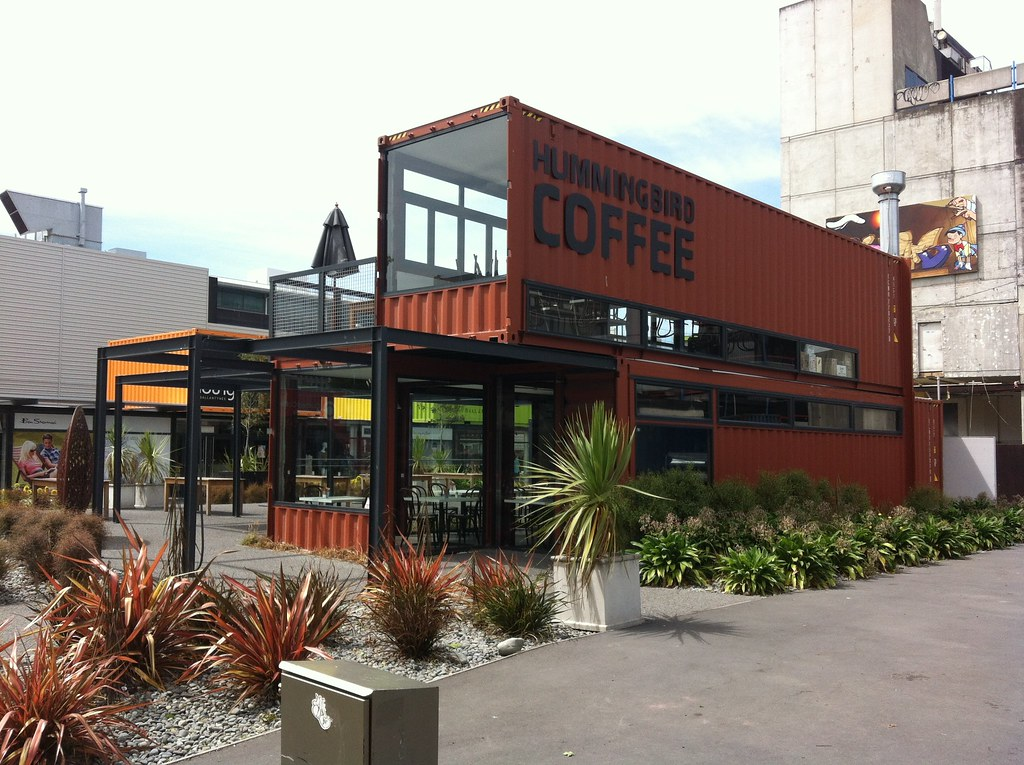 Shipping container mall christchurch new zealand flickr - Casa de contenedores ...