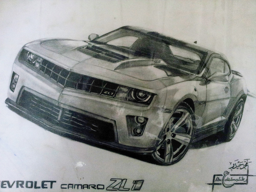 Chevy Camaro ZL1 Drawing . | This my second drawing post ...