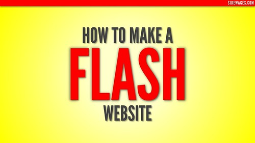 How to Make a Flash Website - PowerPoint Slide #1 | by SideWages