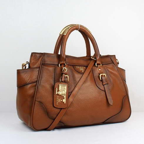 Prada Soft Calf Leather Top Handle Bag in Brown | Flickr - Photo ...