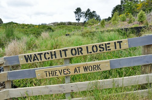 Watch it or lose it -  thieves at work. | by kewl