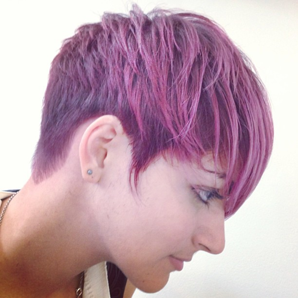 edgy #pixie #haircut #color #pinkhair #pastelhair #violet… | Flickr