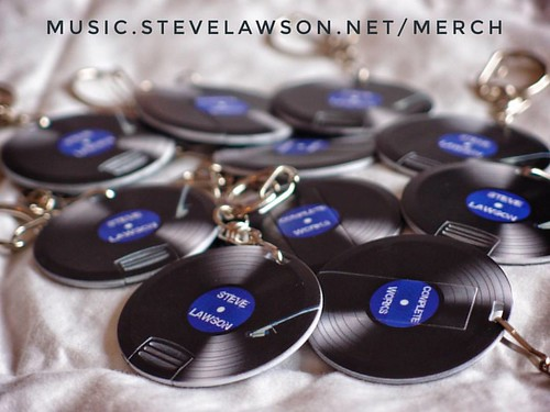 click here to buy the Steve Lawson Complete Works USB Stick - the image is a picture of the usb sticks which are circular and designed to look like mini vinyl
