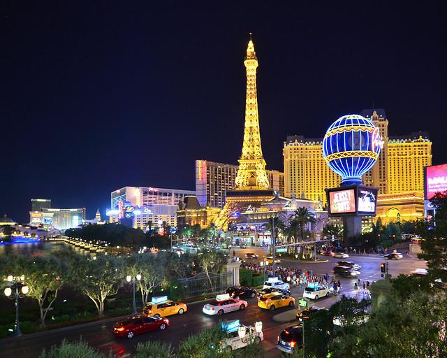 Las Vegas de noche en Estados Unidos