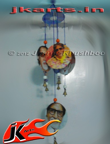 Best out of waste from cd wind chimes pooja juriani flickr for Latest best out of waste