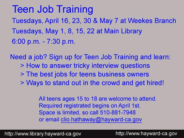 Job coaching workshop teen