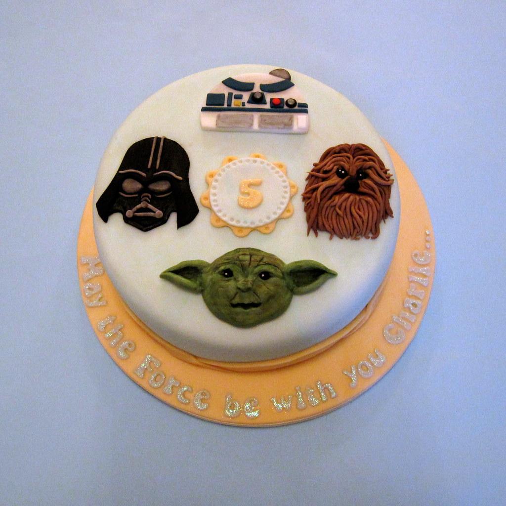 Star Wars Birthday Cake A Star Wars Themed Birthday Cake F Flickr
