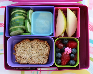 Laptop Lunches fruit filled lunch with banana bread | by anotherlunch.com