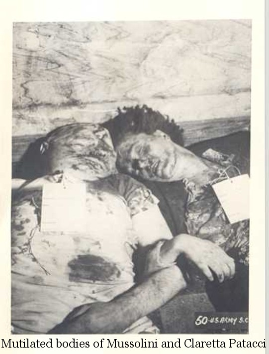 mutilated bodies of mussolini and claretta patacci flickr
