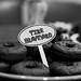 "Homemade chocolate doughnuts make great ""tires"""