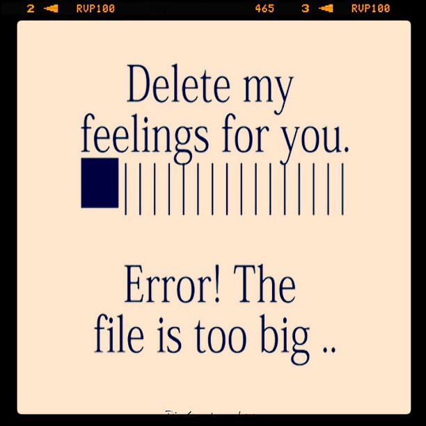 Pinquotes Sayings Love Typography Delete Feelings B Flickr