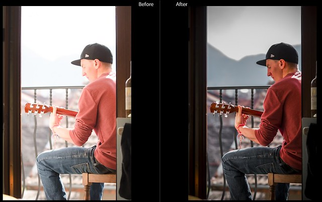 how to see before and after in lightroom mobile