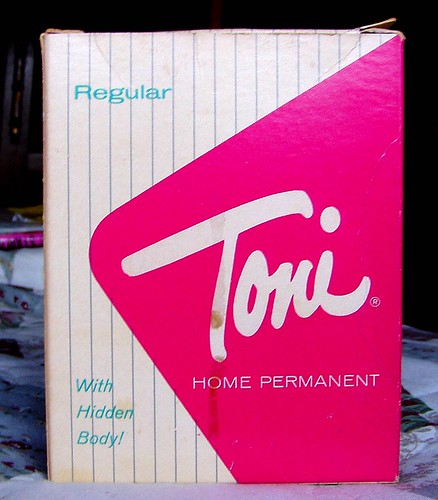Vintage 1960s Toni Home Permanent Box With Hidden Body