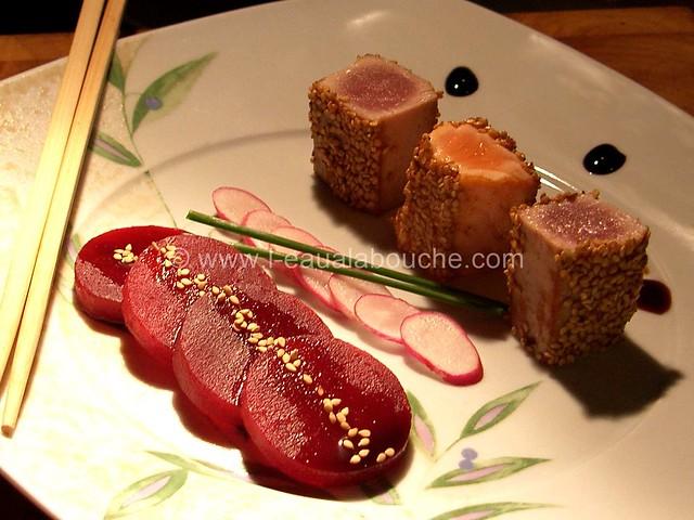 Tataki de Thon et de Saumon © Ana Luthi  Tous droits réservés 7