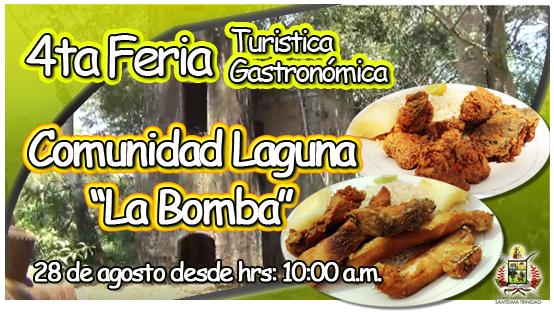 Cuarta Feria Turística Gastronómica Comunidad Laguna La Bomba