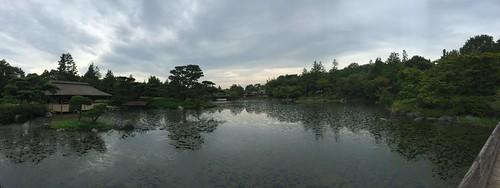 Panorama View of Japanese Garden, Showa Memorial Park, Tokyo, Japan