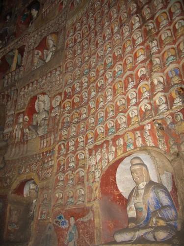 Detalle en las cuevas de Yungang (Datong, China)