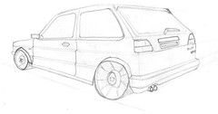 Day 2 Two Point Perspective Volkswagen Golf Gti Mk2 Flickr