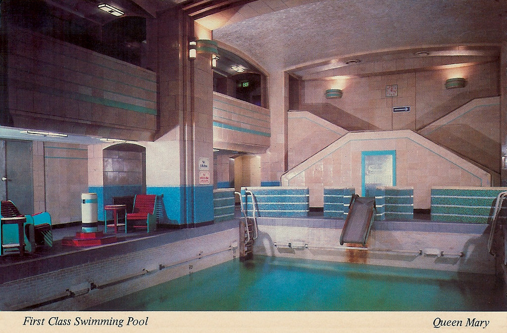 Queen mary first class swimming pool looking fwd shawn - Queen mary swimming pool victoria ...