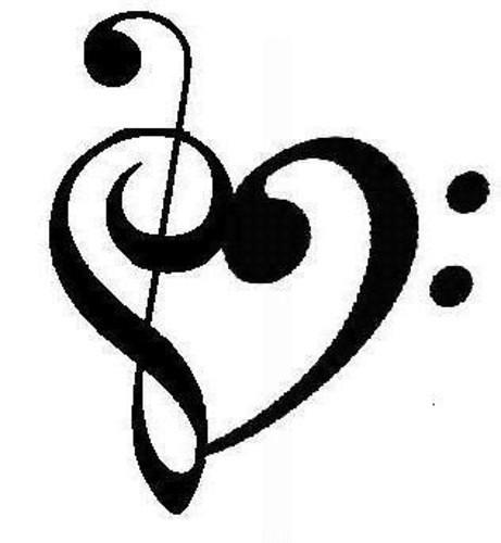 Nota Musical En Forma De Corazon Gathitha Princess Garcia Piñeiro