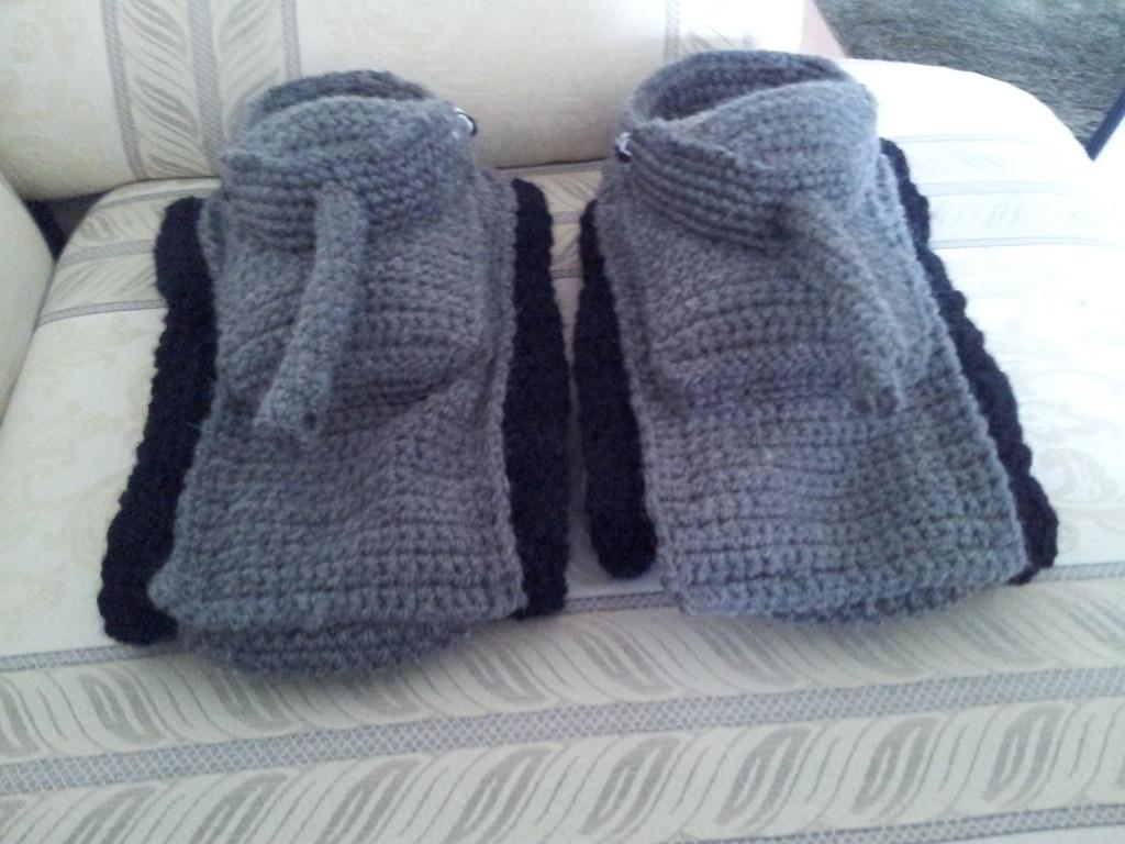 Crochet slippers Panzer tank crochet slippers Anguaskye Flickr