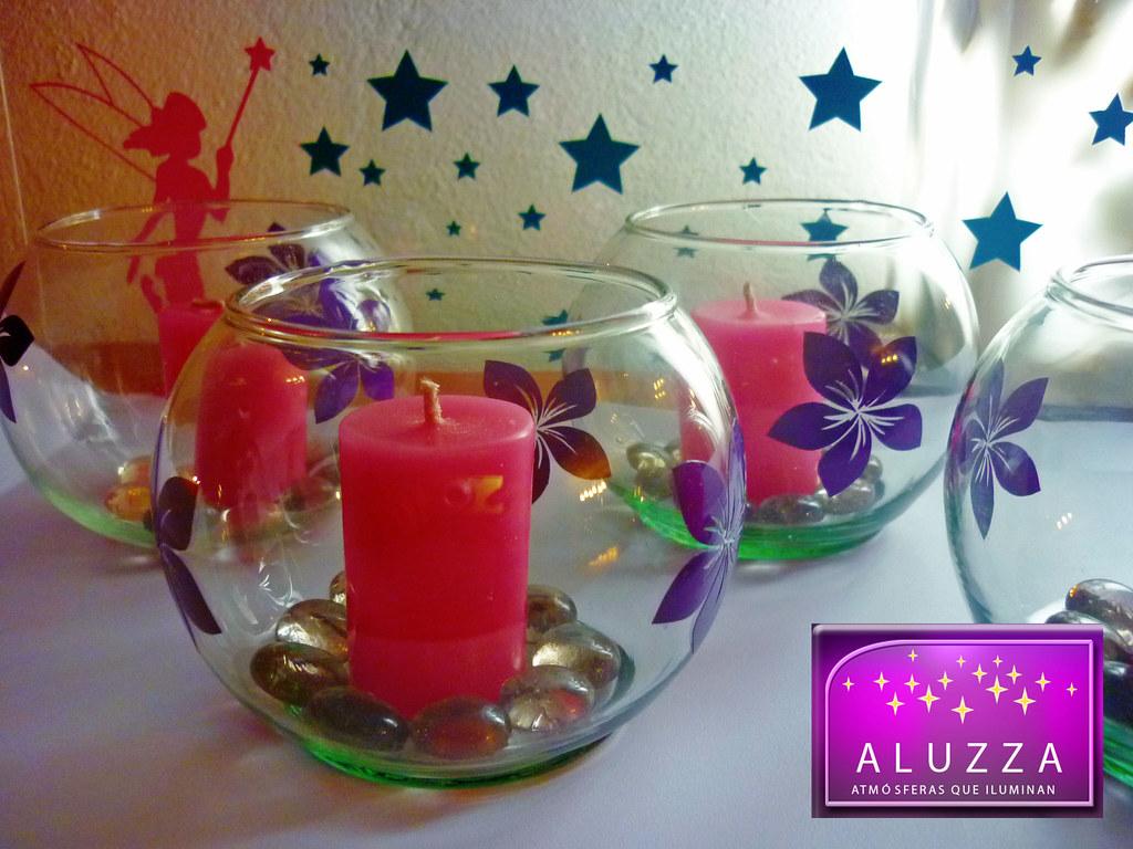 Peceras decoradas para recuerdos o centros de mesa de xv a - Mesas de centro que se elevan ...