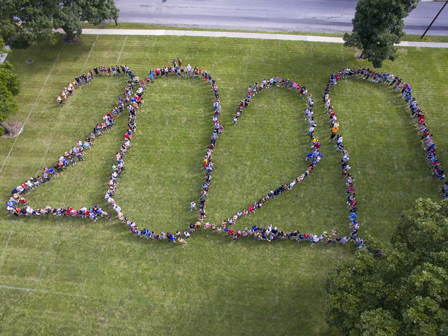 Class of 2020 Aerial Photo