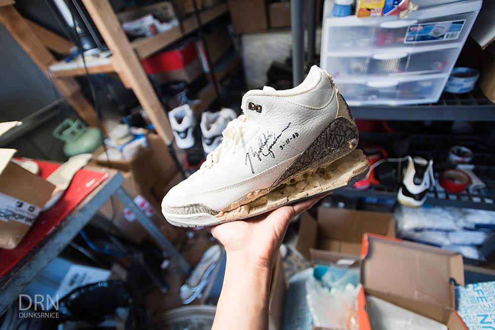 MJ's Worn Pair of 1988 White Cement III's