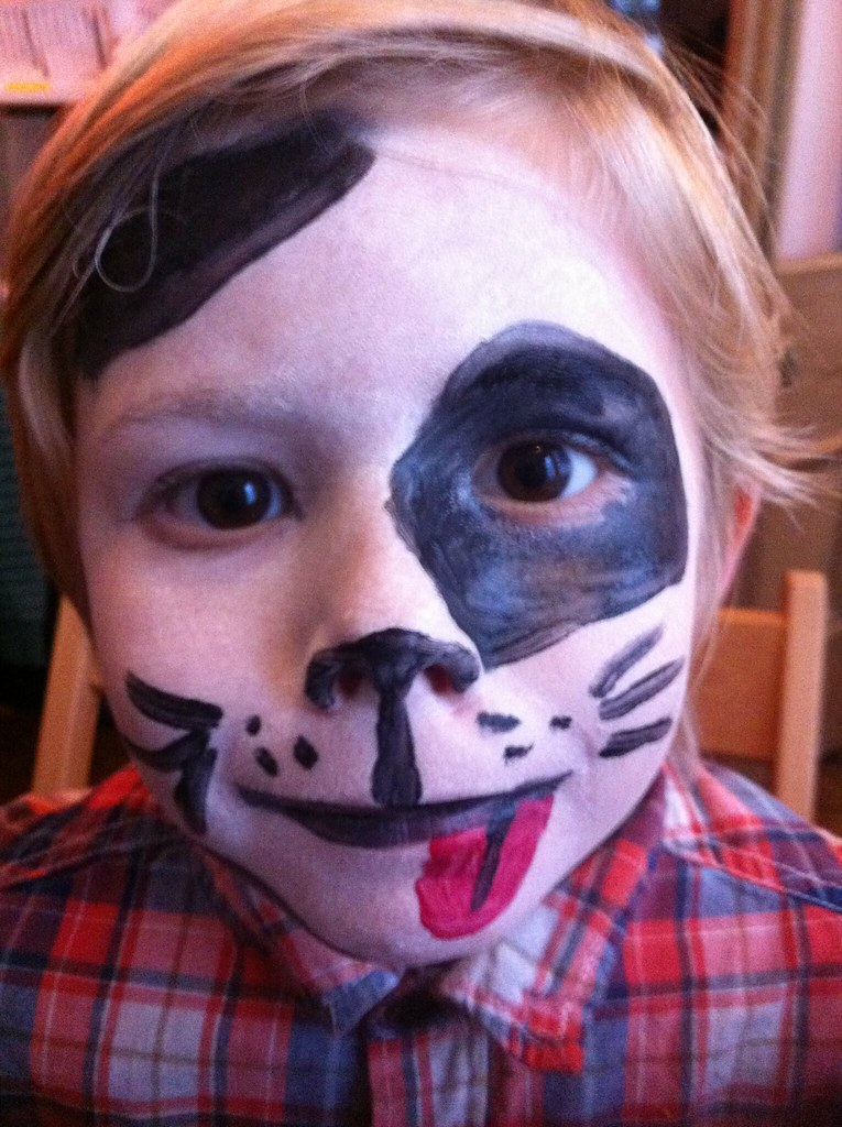 I Did Thing 1 As A Puppy Dog Facepaint Paul Annett Flickr