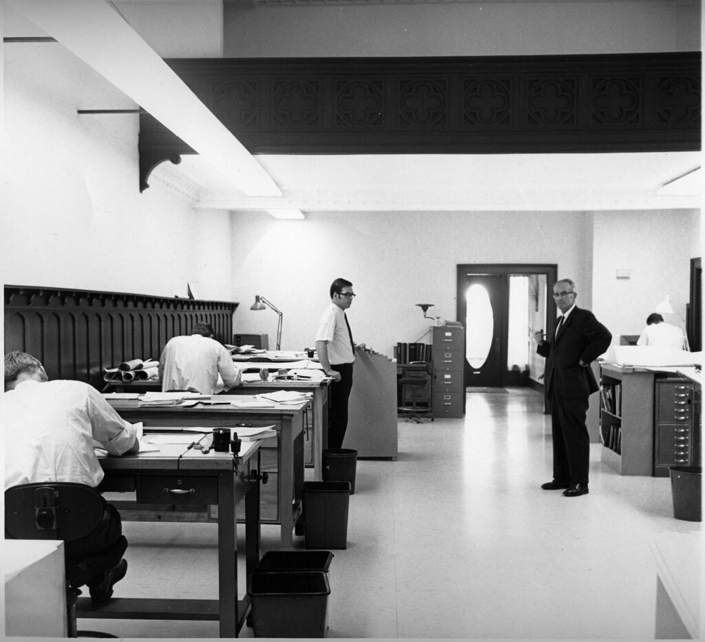 Engineering office, 1969