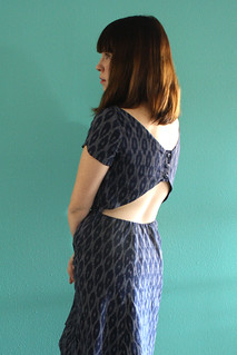 Self Drafted Back Cut-out dress | by dixiediy