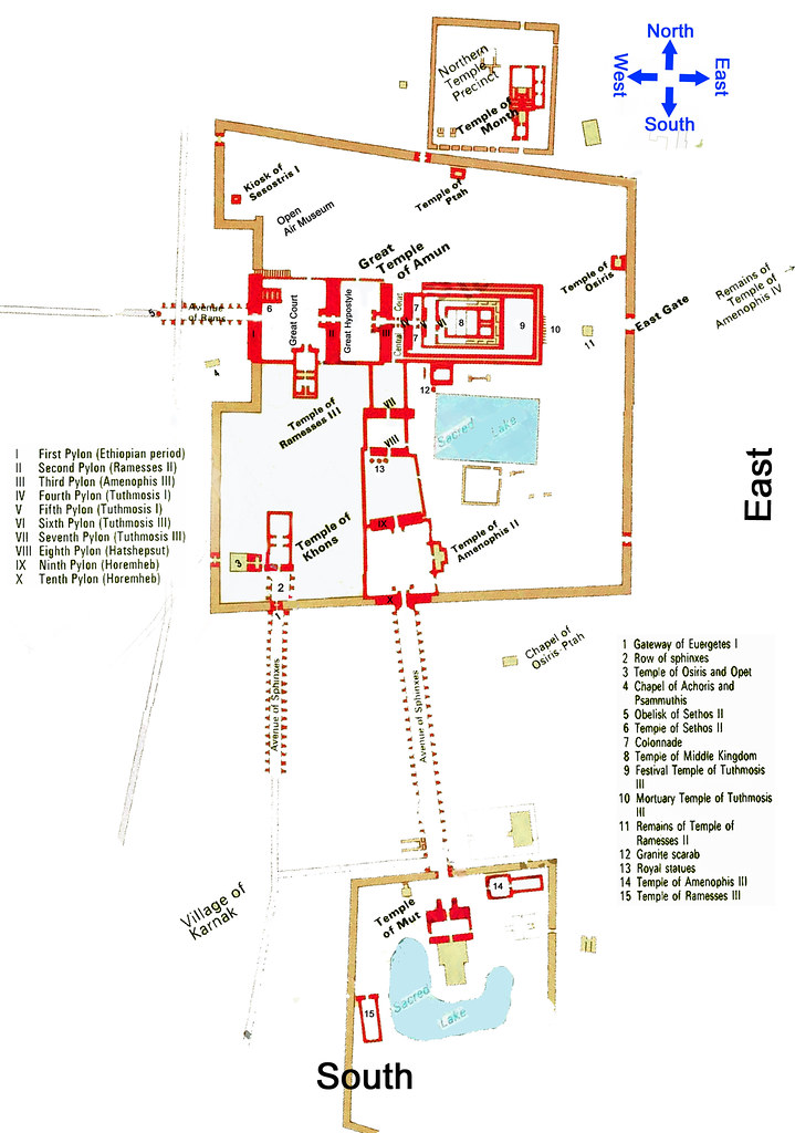 Map Temple Of Karnak And Mut Areal It Is A Good Time To