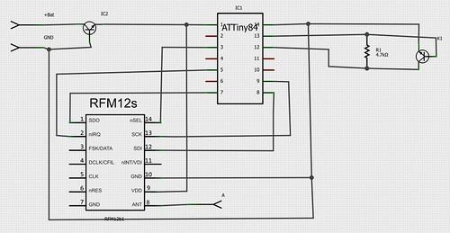 attiny sensor board schaltung