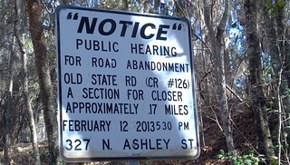 Public Hearing sign on Old State Road | by faul
