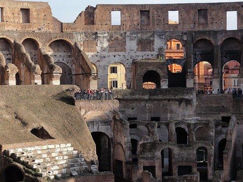 Seating areas of the Colosseum | by Simon Chilton