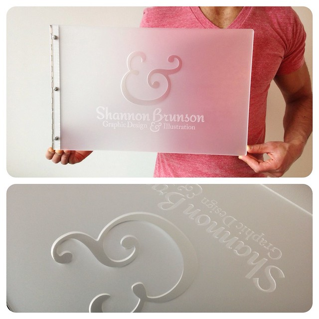 custom graphic design portfolio book frsoted clear