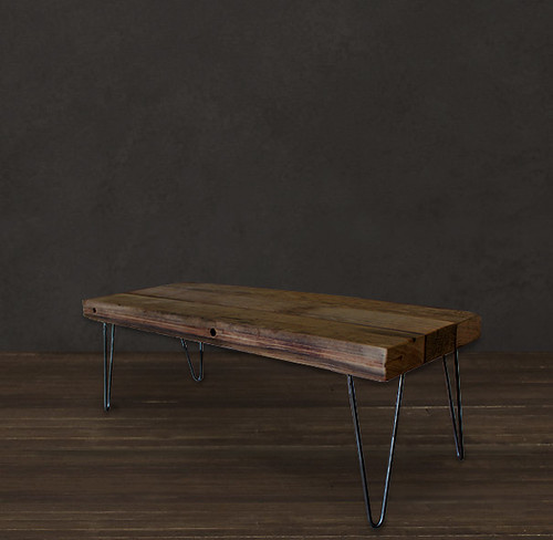 Reclaimed Wood Pickle Wood Beam Table