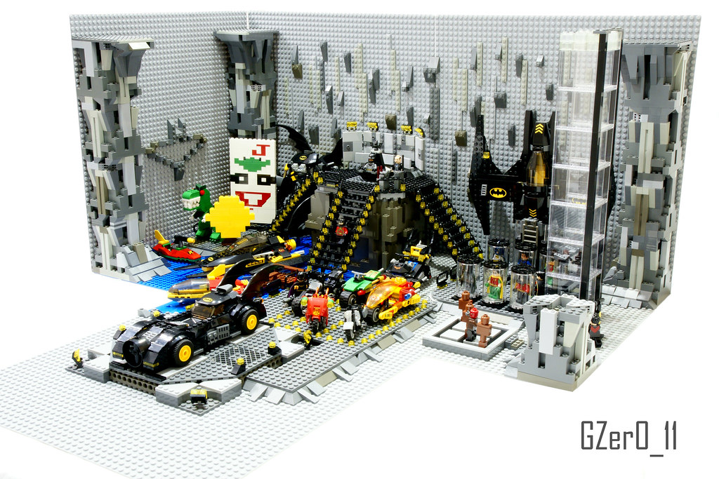 Lego Batcave Moc Right View Here You Have My First Big M Flickr