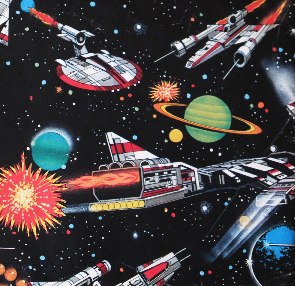 a91598668dc13b Vintage Space Themed Wrapping Paper   Manufacturer unknown C…   Flickr