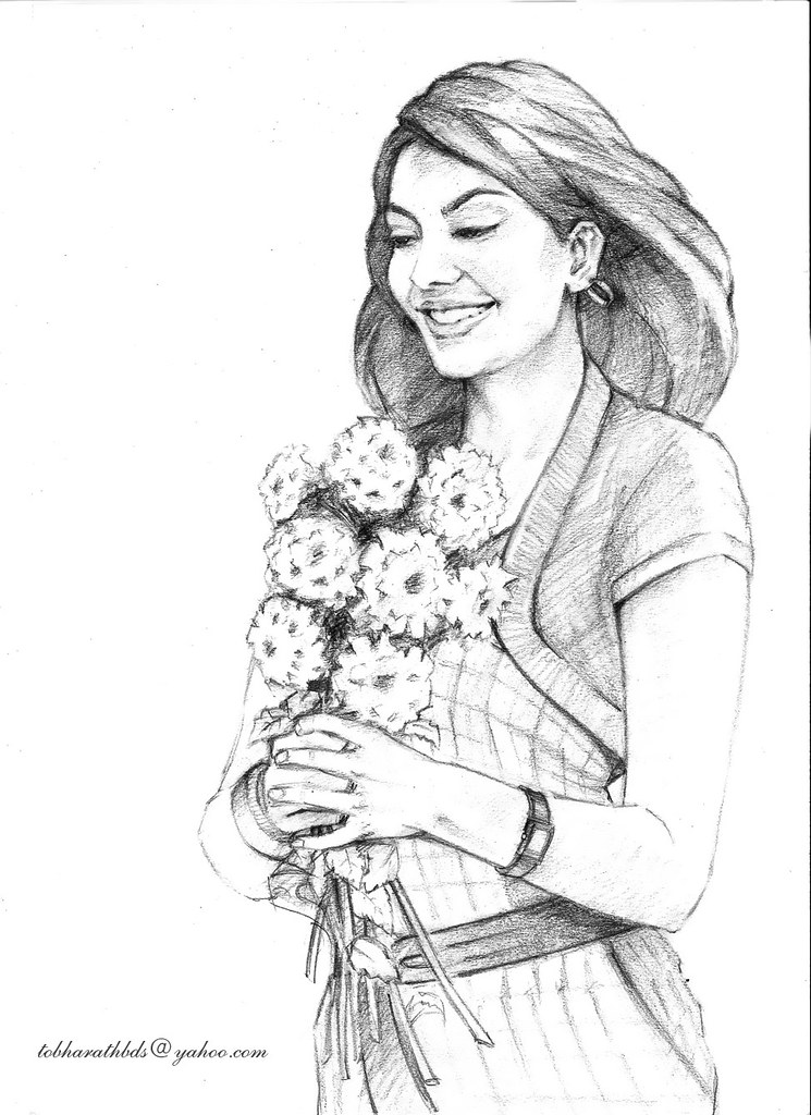 Kajal Pencil Drawing Kajal-agarwal