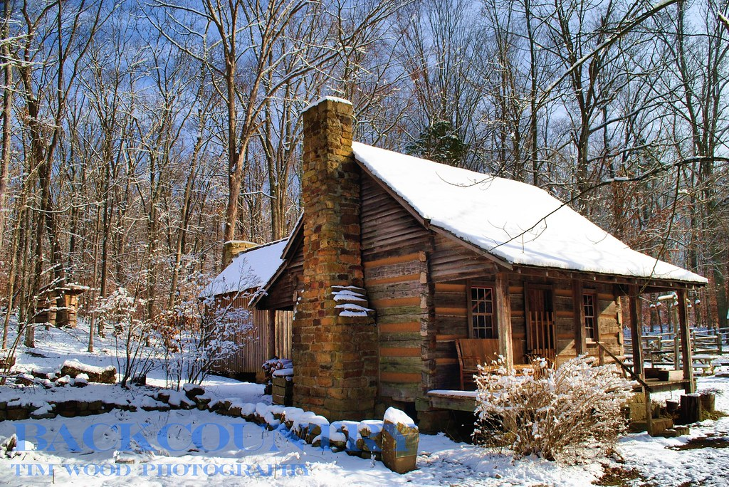 Winter Cabin O Bannon Woods State Park Indiana 2012