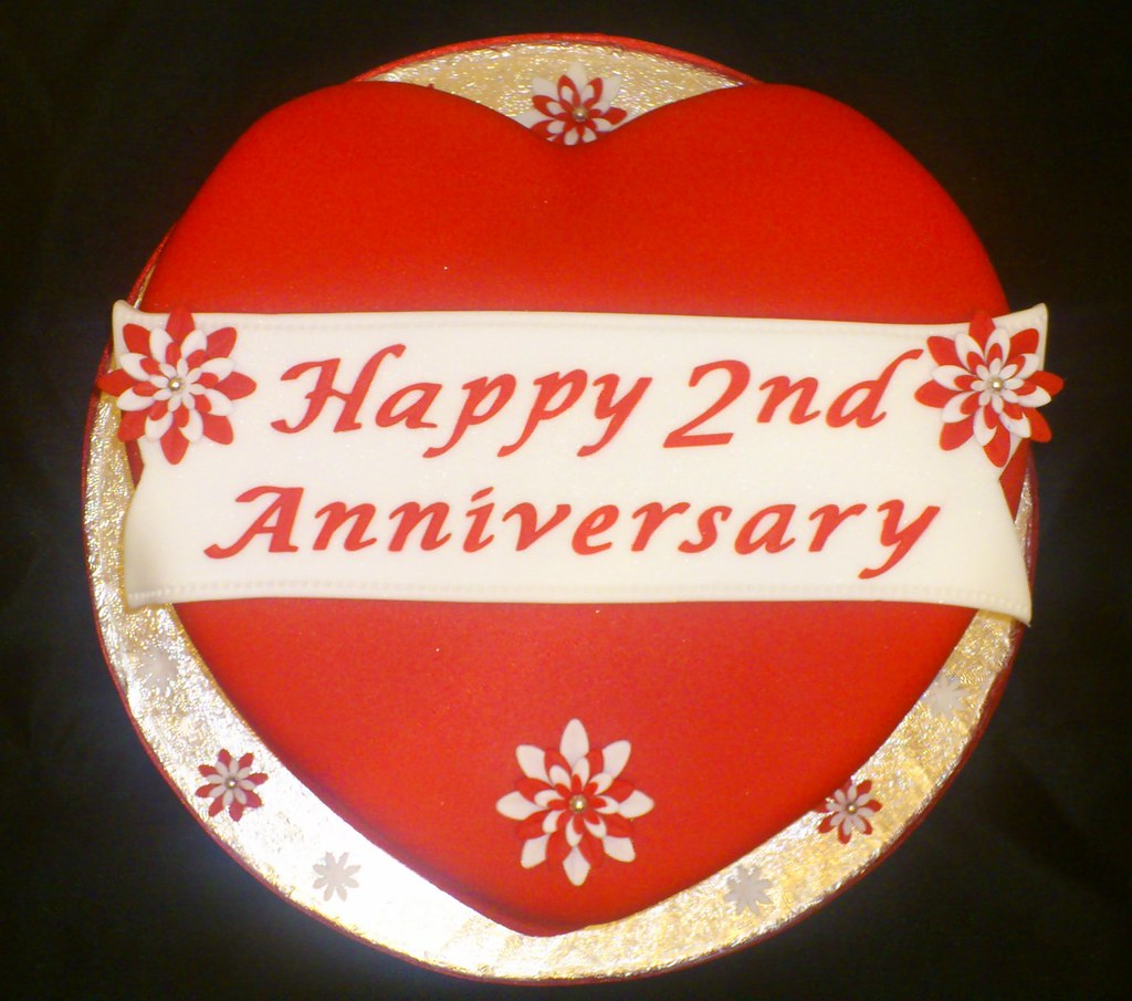 Free Printable Happy 2nd Anniversary Cake Images Hd Greetings Images