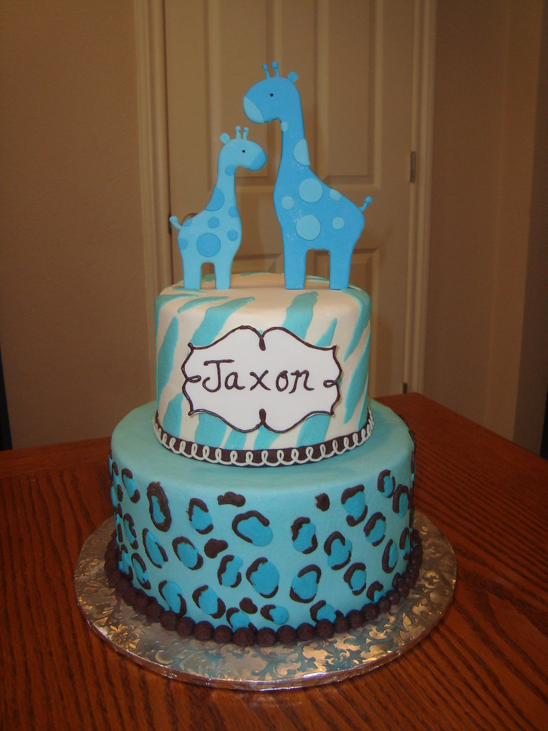Animal Print Baby Shower Cake Sarah Orr Flickr