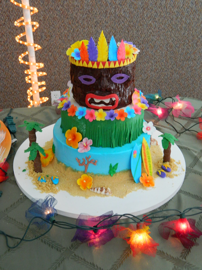 Hawaiian Luau Cake Decorating Ideas