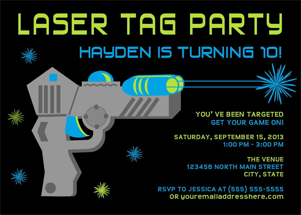 Printable Laser Tag Birthday Party Invitation | I have many … | Flickr